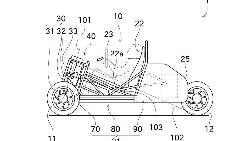 Kawasaki-three-wheeler-patent-fig-1