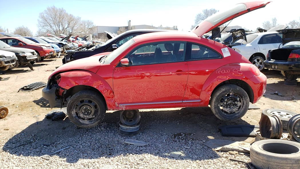 12 - 2012 Volkswagen Beetle in Colorado Junkyard - photo by Murilee Martin