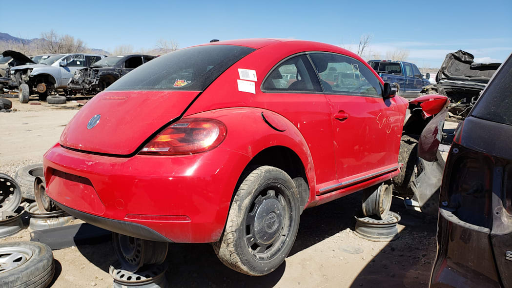 21 - 2012 Volkswagen Beetle in Colorado Junkyard - photo by Murilee Martin