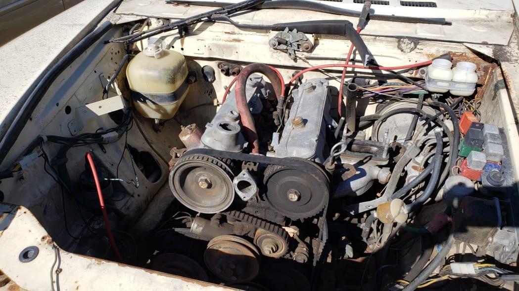 08 -1975 Fiat 124 Sport Spider in Colorado Junkyard - photo by Murilee Martin