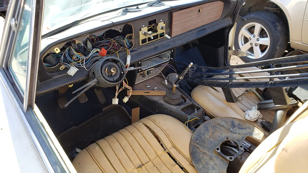 16 -1975 Fiat 124 Sport Spider in Colorado Junkyard - photo by Murilee Martin