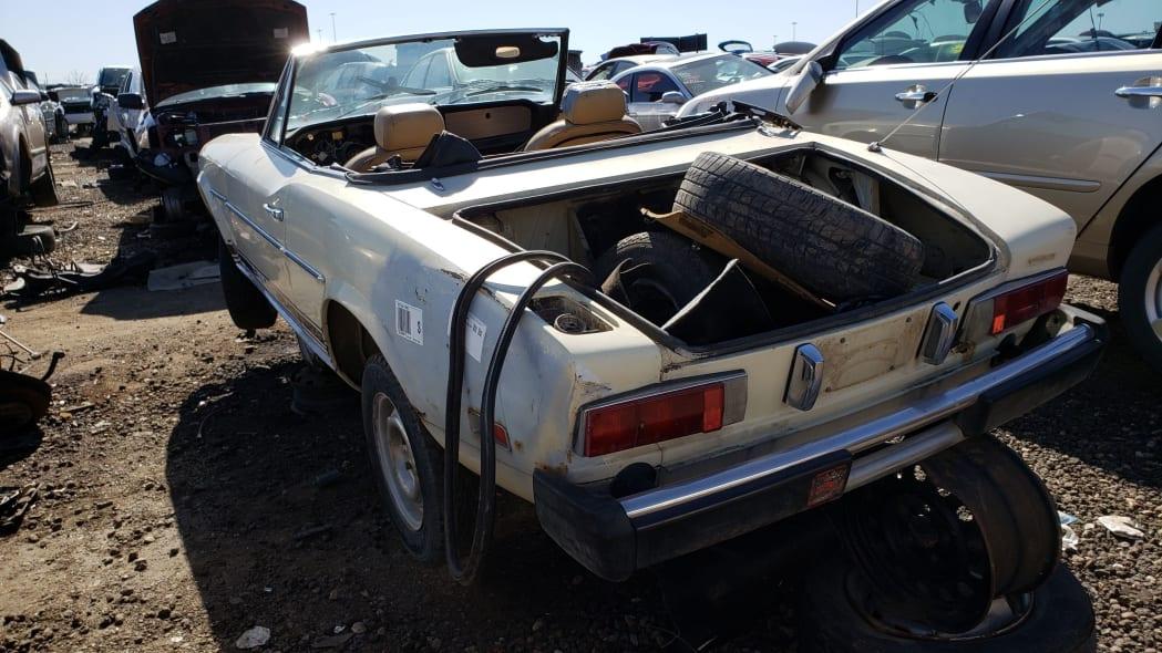 21 -1975 Fiat 124 Sport Spider in Colorado Junkyard - photo by Murilee Martin