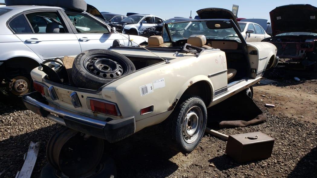 24 -1975 Fiat 124 Sport Spider in Colorado Junkyard - photo by Murilee Martin