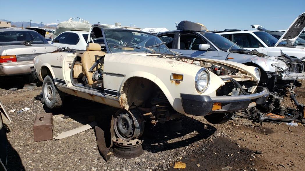 27 -1975 Fiat 124 Sport Spider in Colorado Junkyard - photo by Murilee Martin