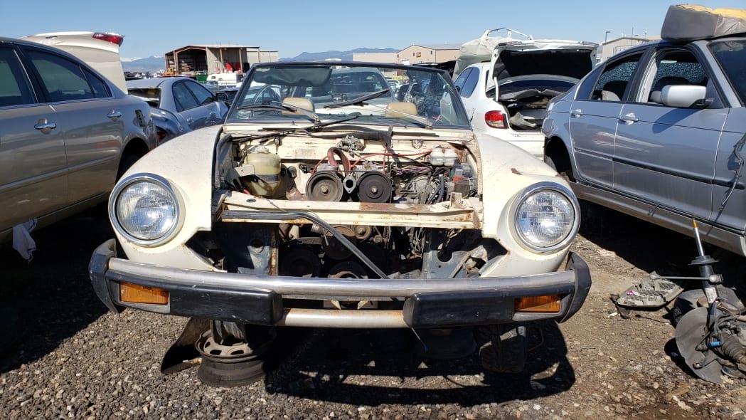 28 -1975 Fiat 124 Sport Spider in Colorado Junkyard - photo by Murilee Martin