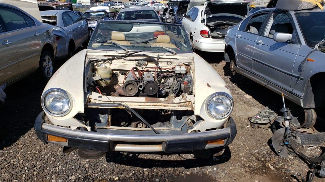 29 -1975 Fiat 124 Sport Spider in Colorado Junkyard - photo by Murilee Martin