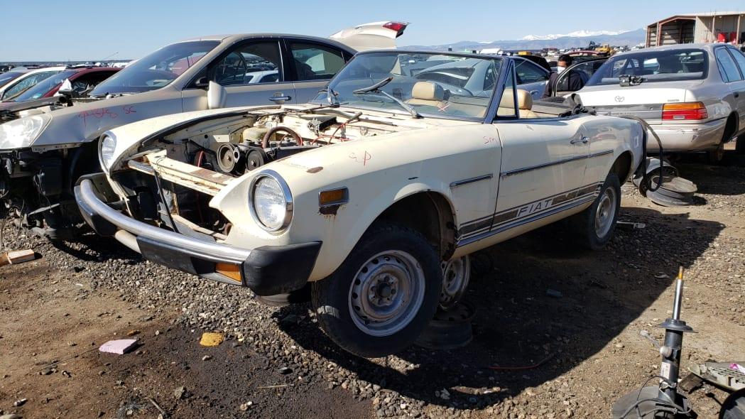 999 -1975 Fiat 124 Sport Spider in Colorado Junkyard - photo by Murilee Martin