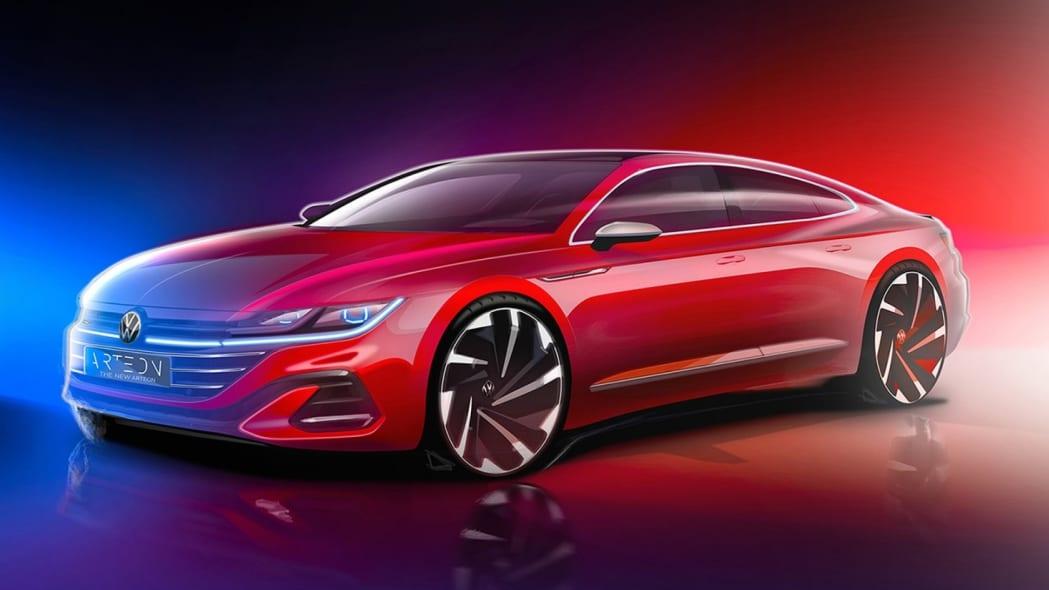 2021 Volkswagen Arteon preview sketch
