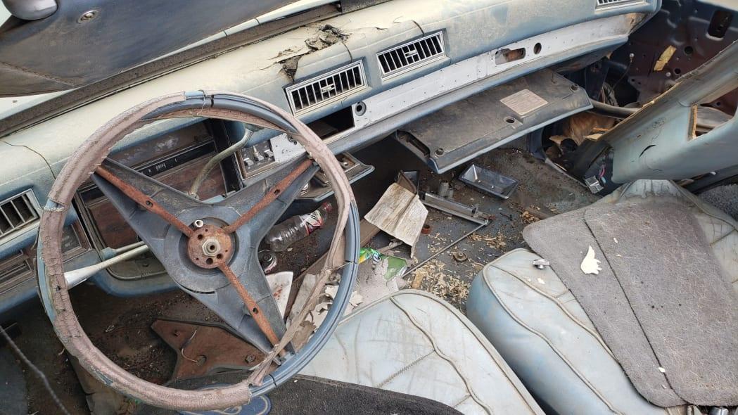 09 - 1976 Cadillac Eldorado Convertible in Colorado Junkyard - photo by Murilee Martin