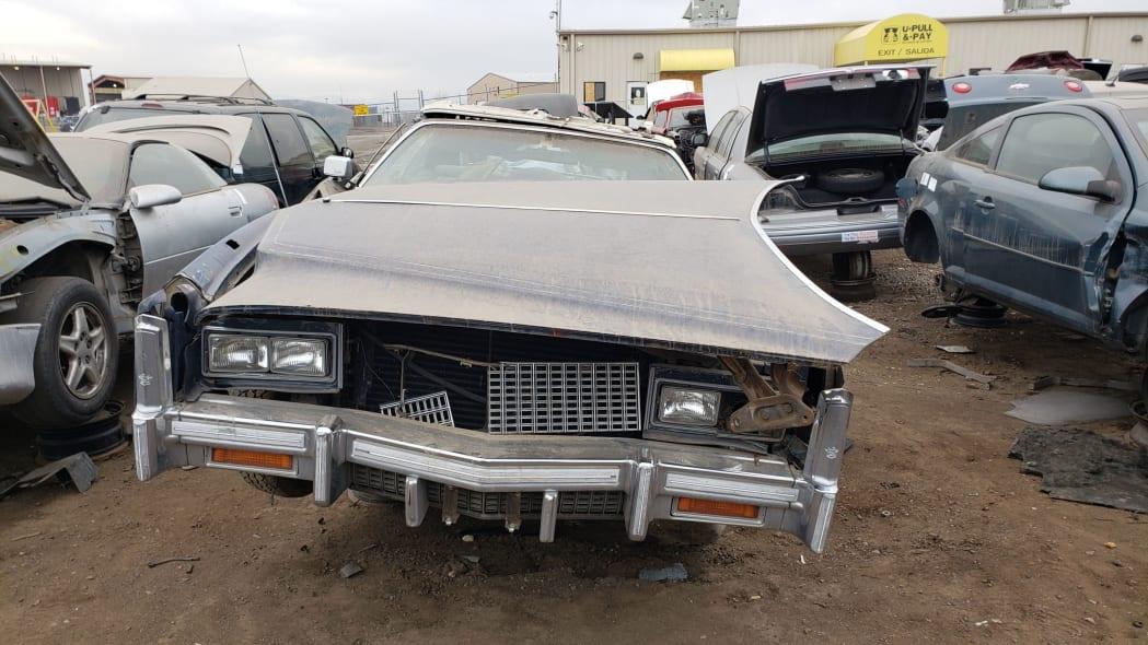 21 - 1976 Cadillac Eldorado Convertible in Colorado Junkyard - photo by Murilee Martin