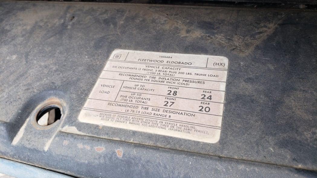 35 - 1976 Cadillac Eldorado Convertible in Colorado Junkyard - photo by Murilee Martin