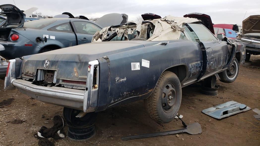 38 - 1976 Cadillac Eldorado Convertible in Colorado Junkyard - photo by Murilee Martin