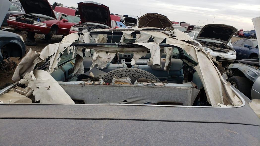 43 - 1976 Cadillac Eldorado Convertible in Colorado Junkyard - photo by Murilee Martin