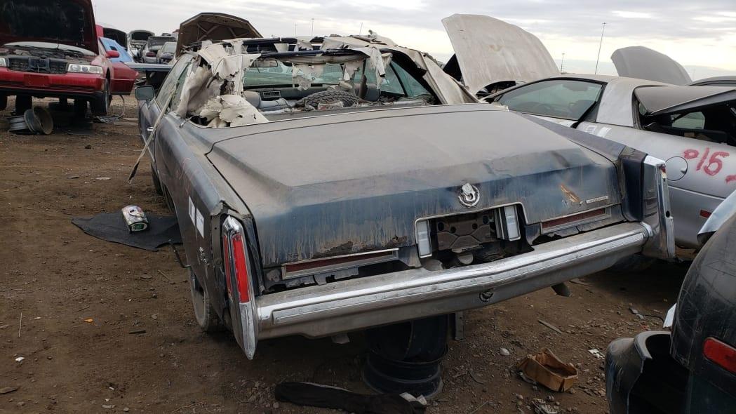 44 - 1976 Cadillac Eldorado Convertible in Colorado Junkyard - photo by Murilee Martin