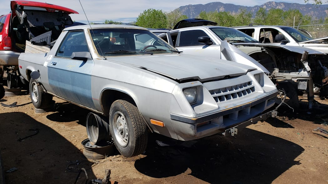 06 - 1983 Plymouth Scamp in Colorado Junkyard - photo by Murilee Martin