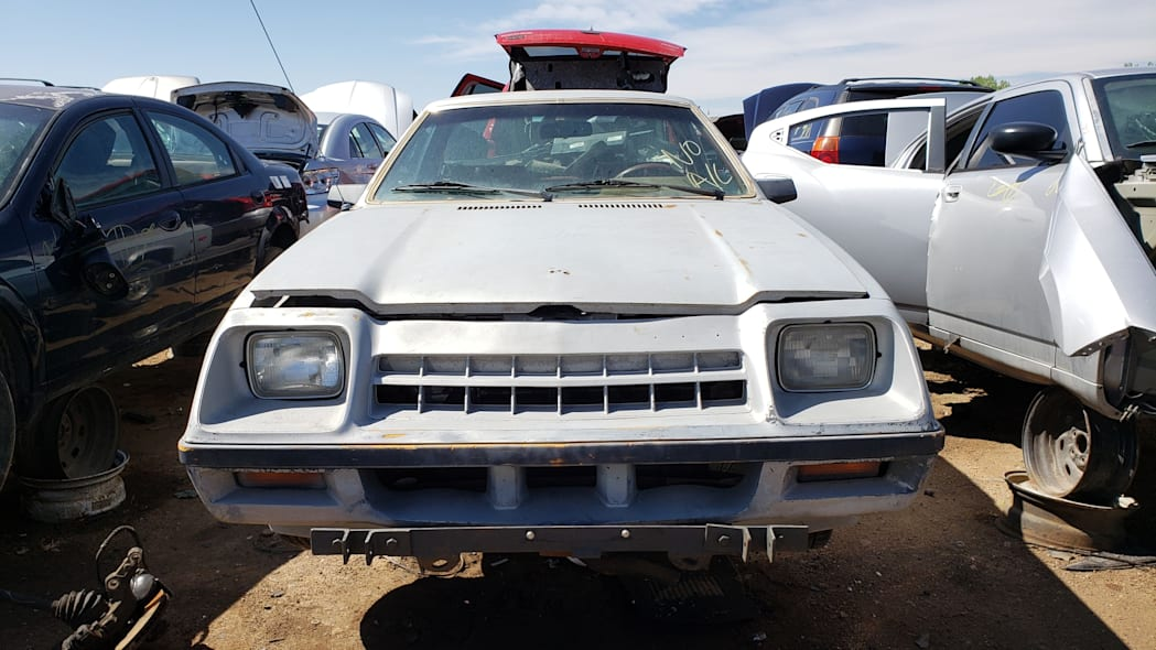 09 - 1983 Plymouth Scamp in Colorado Junkyard - photo by Murilee Martin