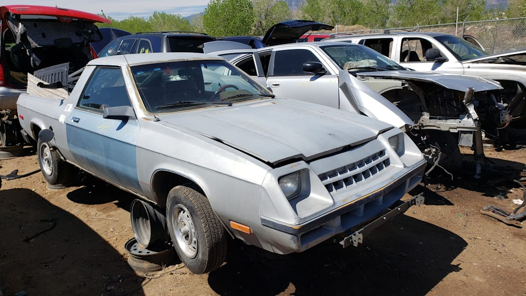 999 - 1983 Plymouth Scamp in Colorado Junkyard - photo by Murilee Martin