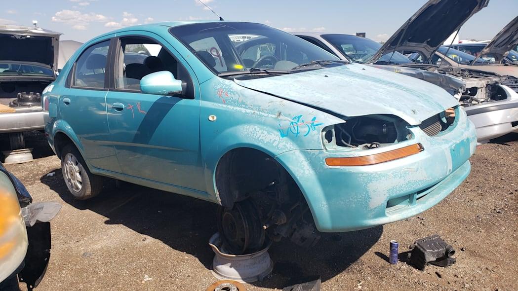 26 - 2005 Chevrolet Aveo in Colorado Junkyard - photo by Murilee Martin