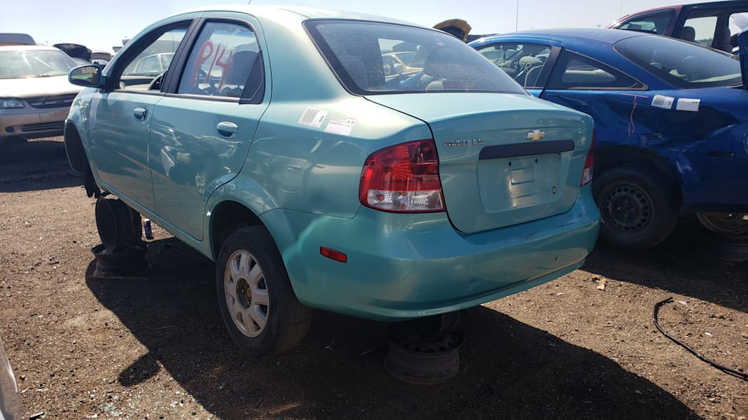 36 - 2005 Chevrolet Aveo in Colorado Junkyard - photo by Murilee Martin