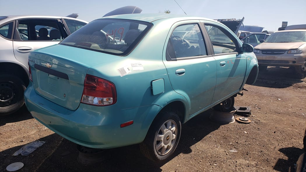 39 - 2005 Chevrolet Aveo in Colorado Junkyard - photo by Murilee Martin