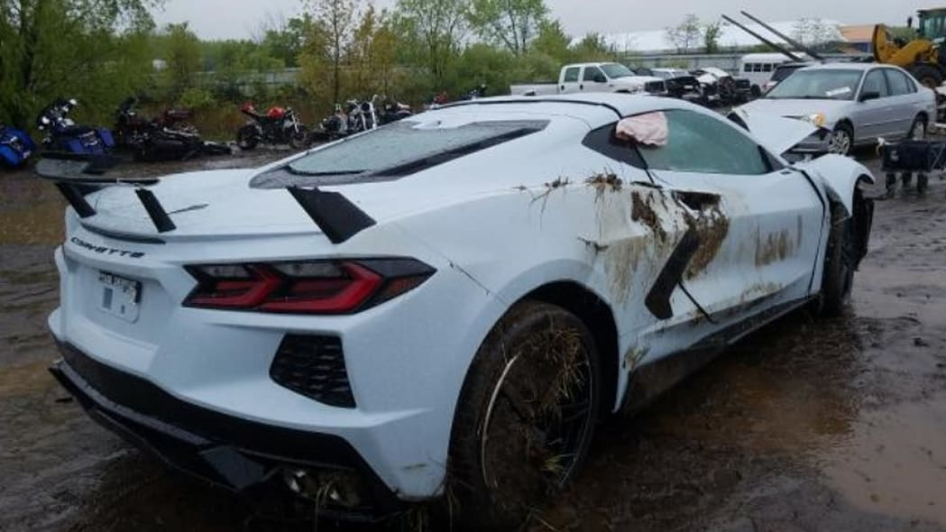 Wrecked 2020 Chevrolet Corvette