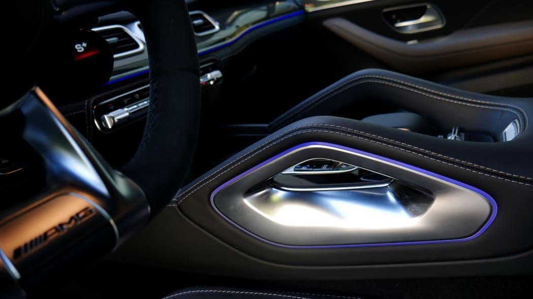2021 Mercedes-AMG GLS 63 center console lighting