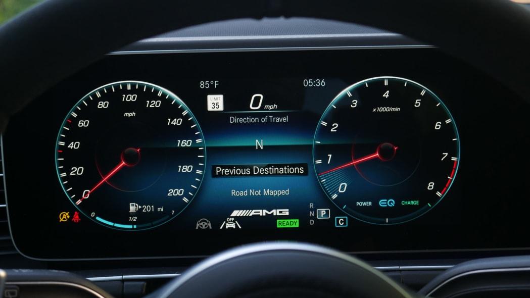 2021 Mercedes-AMG GLS 63 classic gauges