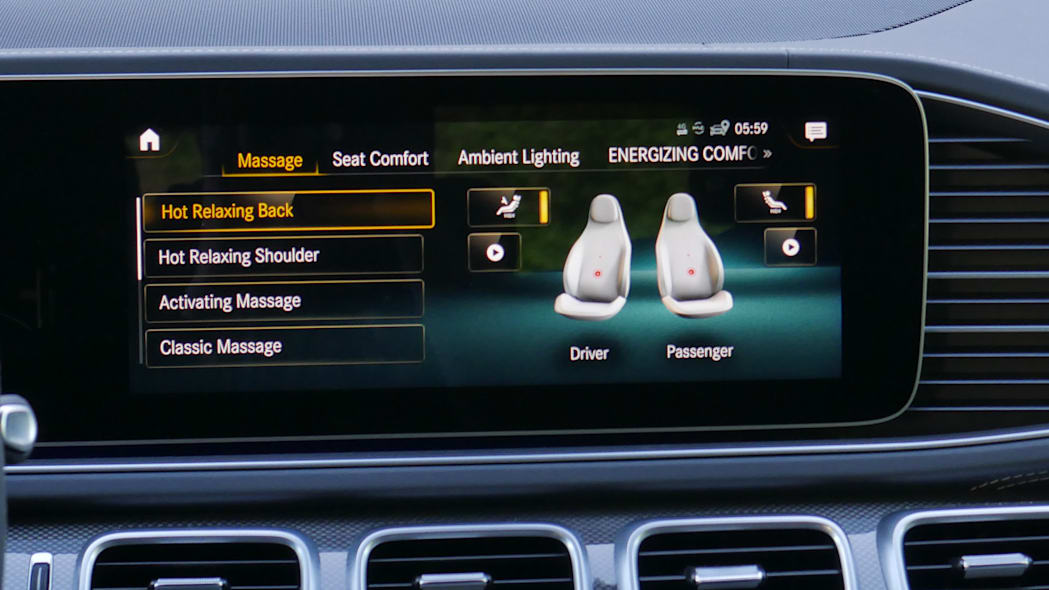 2021 Mercedes-AMG GLS 63 massage controls