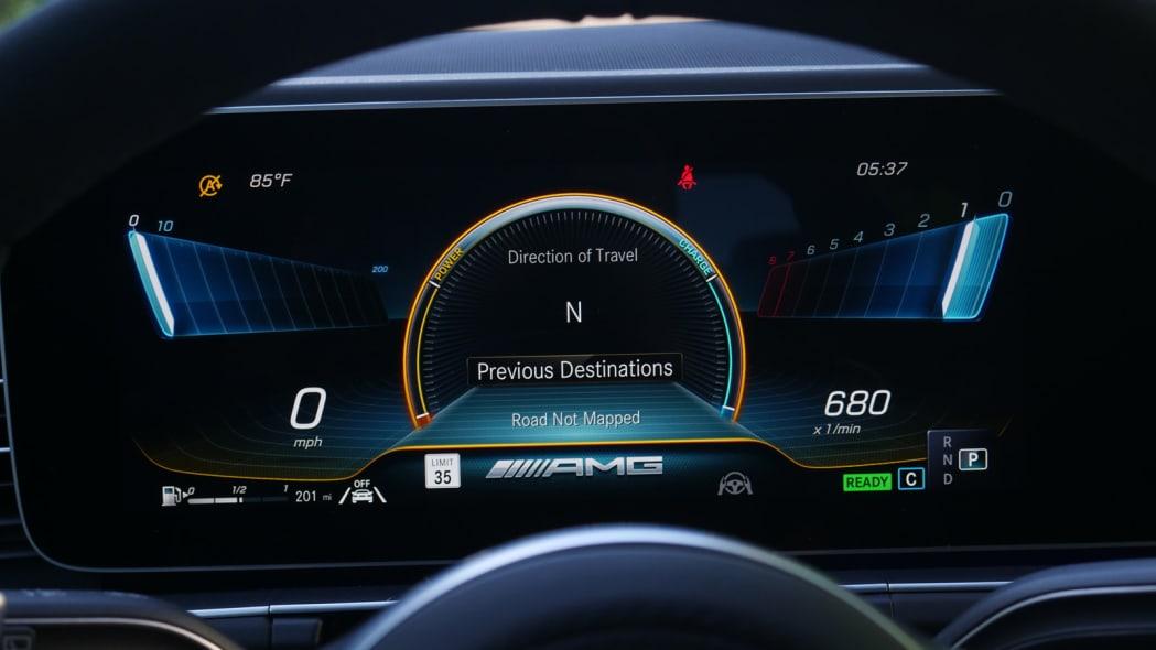 2021 Mercedes-AMG GLS 63 race gauges