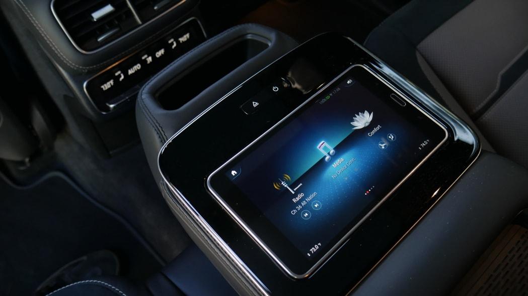 2021 Mercedes-AMG GLS 63 second row MBUX