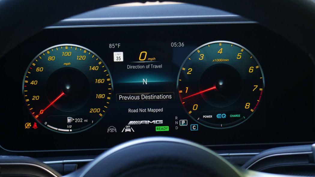 2021 Mercedes-AMG GLS 63 sport gauges