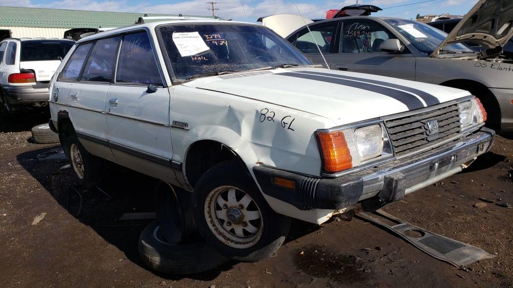 00 - 1982 Subaru GL in Colorado Junkyard - photo by Murilee Martin