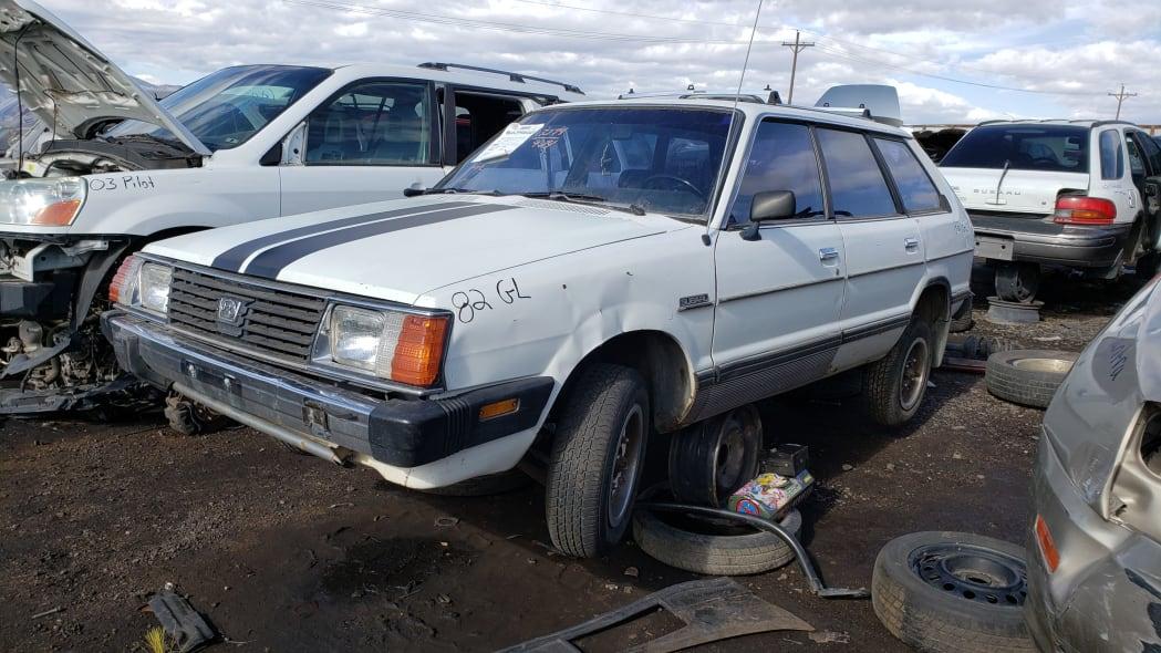32 - 1982 Subaru GL in Colorado Junkyard - photo by Murilee Martin