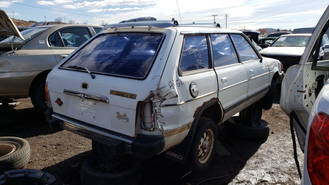 53 - 1982 Subaru GL in Colorado Junkyard - photo by Murilee Martin