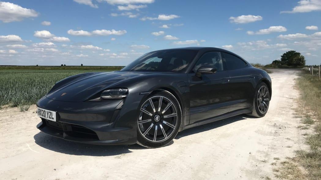 2020 Porsche Taycan Turbo front three quarter