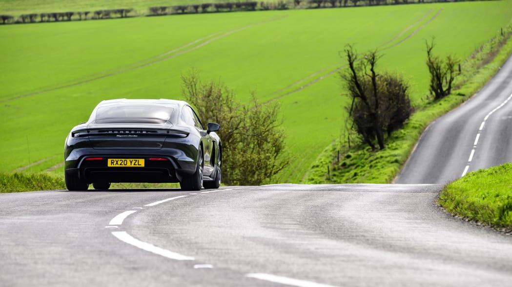 2020 Porsche 911 Turbo S action rear