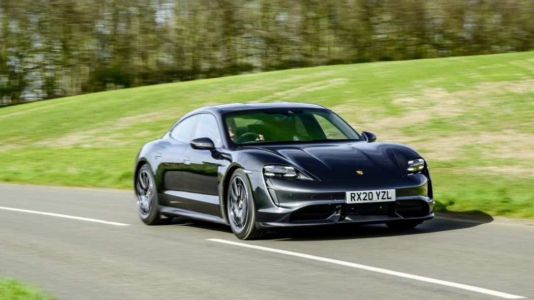 2020 Porsche Taycan Turbo action front