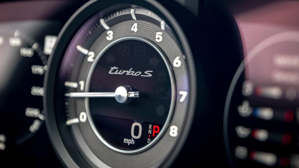 2020 Porsche 911 Turbo S tach detail