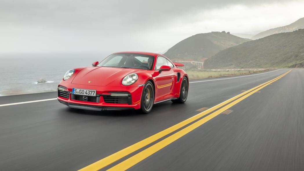 2020 Porsche 911 Turbo S action lead
