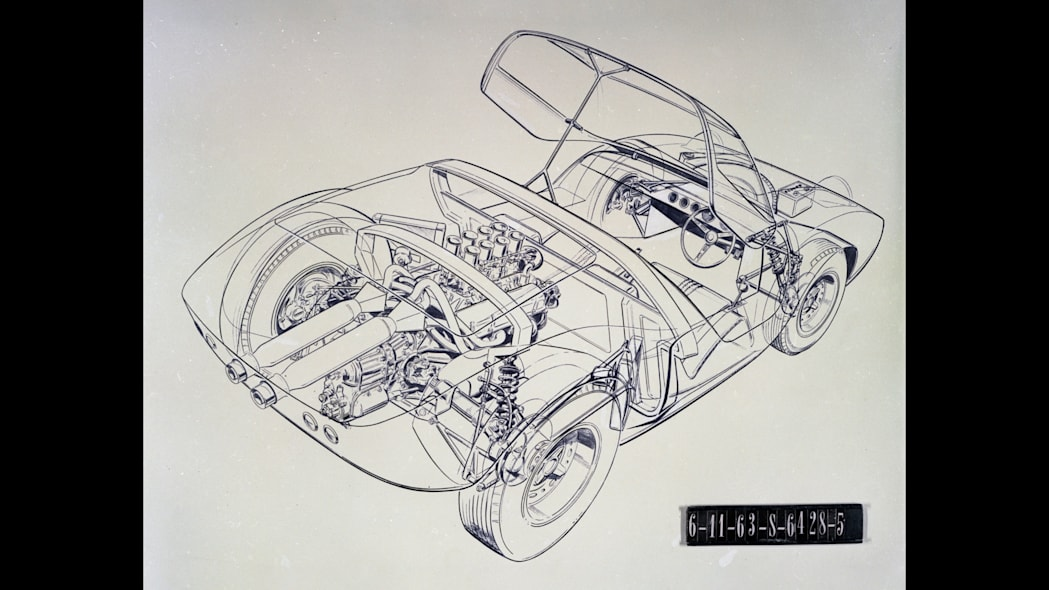 Original Ford GT40 design sketch