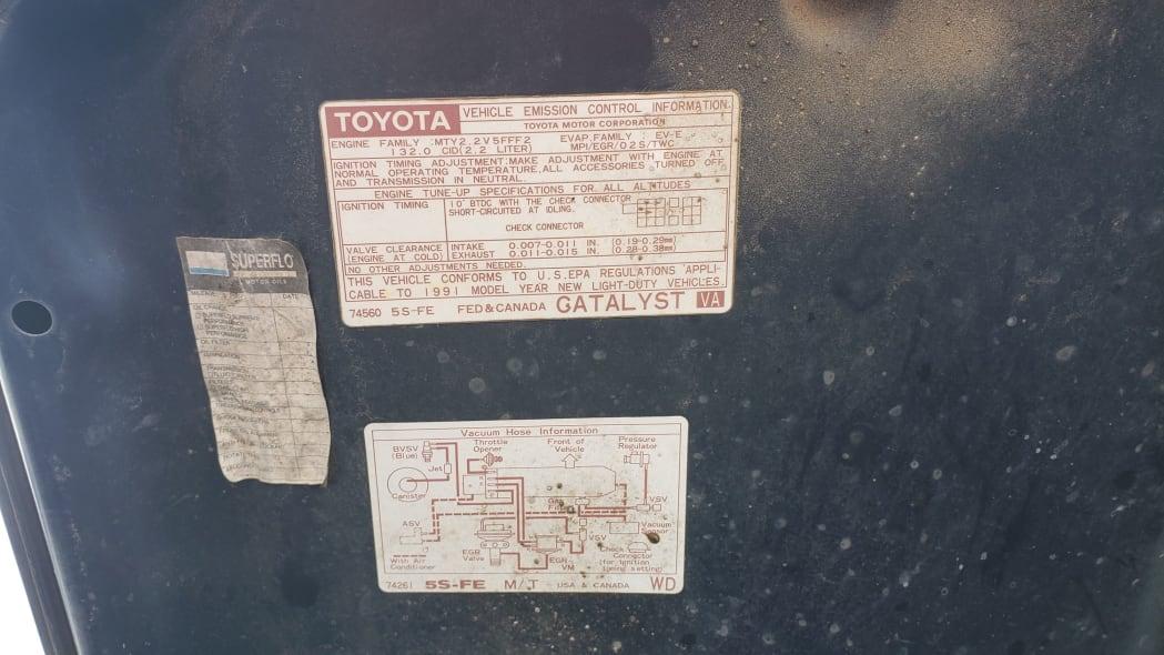 12 - 1991 Toyota MR2 in Colorado Junkyard - photo by Murilee Martin