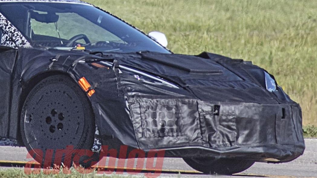 C8 Corvette Z06 aero package spy photo