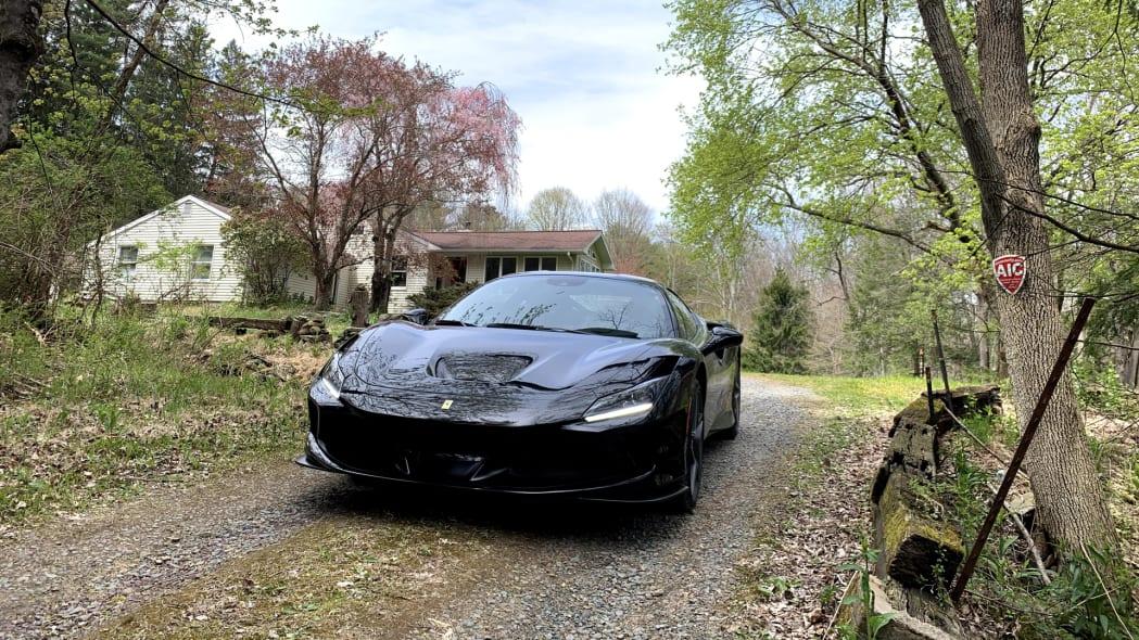 Ferrari F8 Tributo front dirt road harper