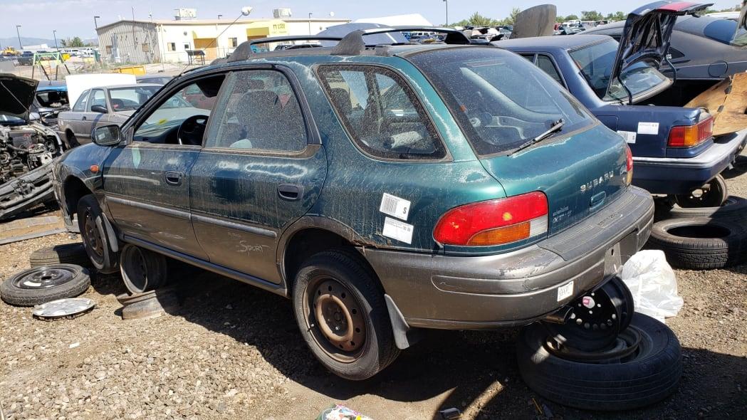 27 - 1998 Subaru Impreza Outback Sport in Colorado Junkyard - photo by Murilee Martin