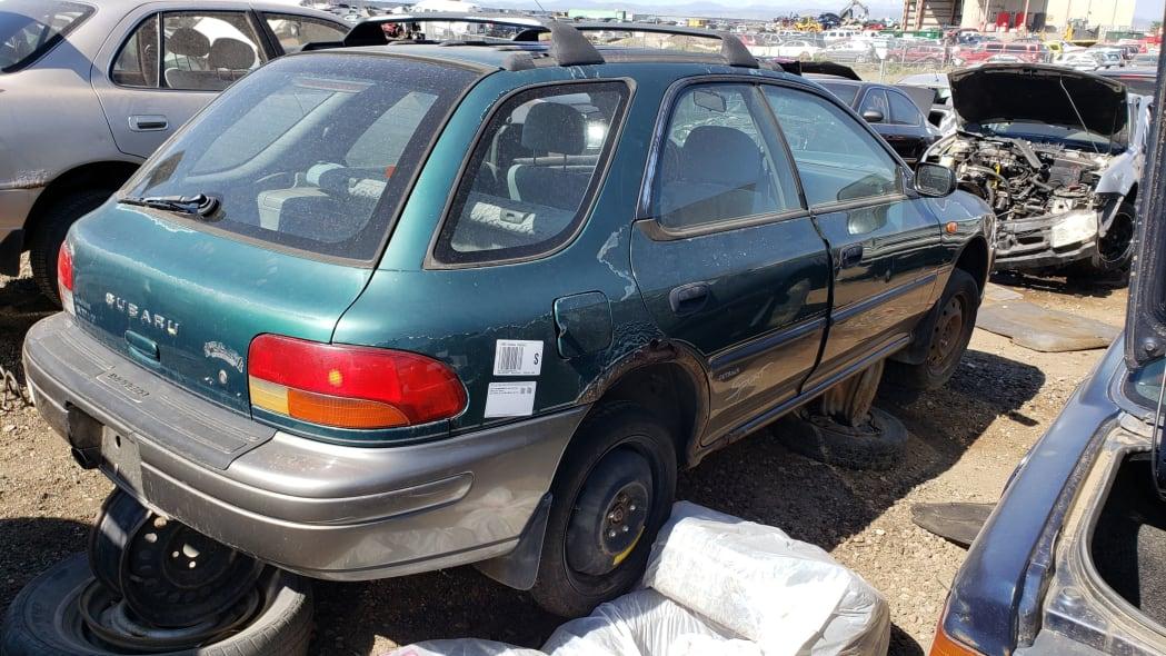 37 - 1998 Subaru Impreza Outback Sport in Colorado Junkyard - photo by Murilee Martin