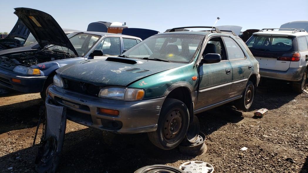 99 - 1998 Subaru Impreza Outback Sport in Colorado Junkyard - photo by Murilee Martin