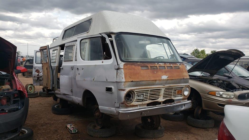 12 - 1969 Chevrolet Van in Colorado Junkyard - photo by Murilee Martin