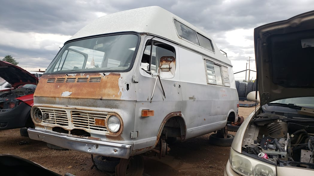 99 - 1969 Chevrolet Van in Colorado Junkyard - photo by Murilee Martin
