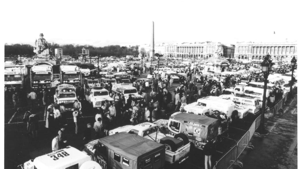 Start of the 1982 Paris-Dakar