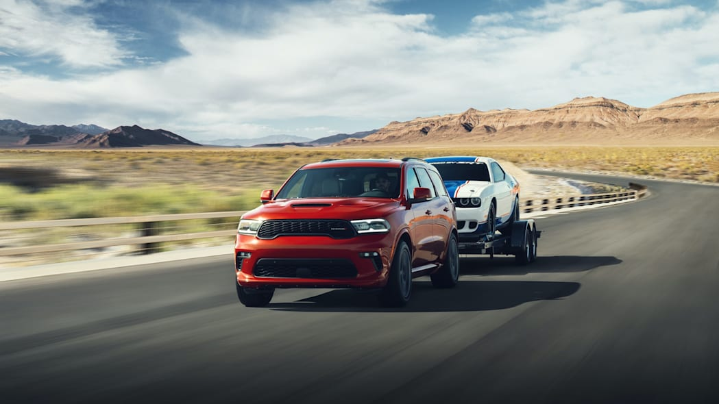 Dodge Durango R/T Tow N Go: The Durango continues its ability to out-haul every full-size, three-row SUV on the road with the SRT Hellcat, SRT 392 and R/T Tow N Go delivering best-in-class towing capability of 8,700 pounds